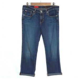 AG The Sweetie Cropped Straight Leg Jeans